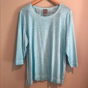 {Chico's} 3/4 Sleeve Top Size 3